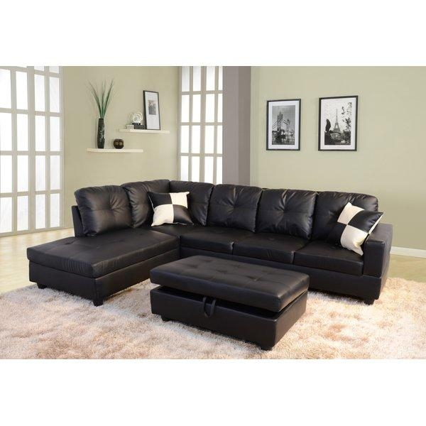 Black Sectional Sofa | Design Your Life In Black Microfiber Sectional Sofas (Image 5 of 20)