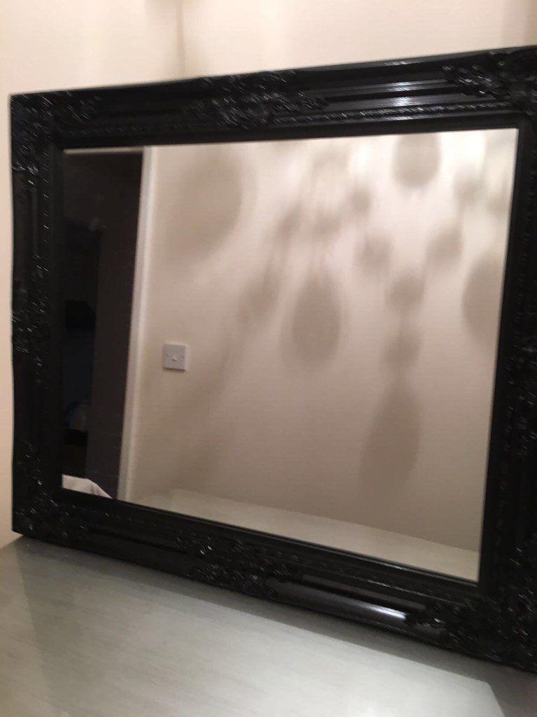 Black Shabby Chic Mirror | In Plymouth, Devon | Gumtree Within Black Shabby Chic Mirror (Image 10 of 20)
