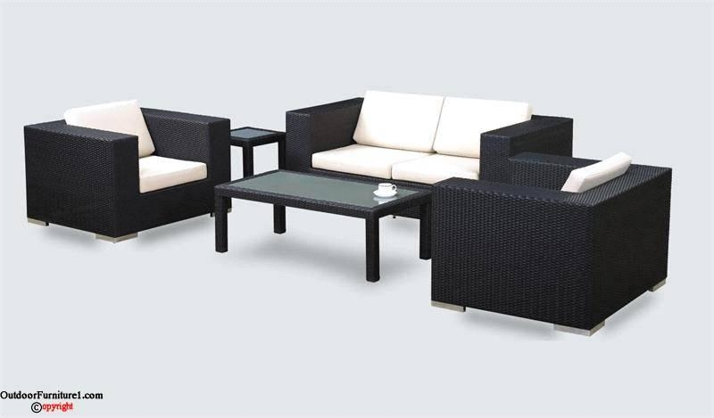 Black Wicker Outdoor Furniture | Outdoorfurniture1 – Outdoor Within Black Wicker Sofas (Image 6 of 20)