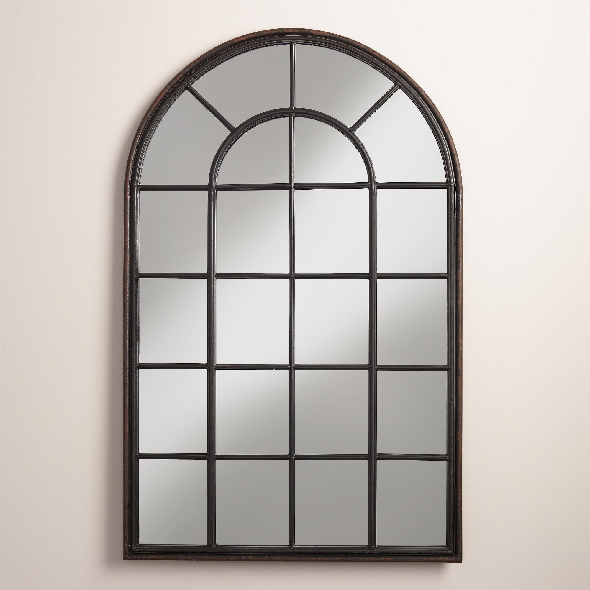 Black Window Pane Mirror Shop Tyler Dillon Superior 34 In X 38 In With Regard To Mirror Shop Online (Image 5 of 20)