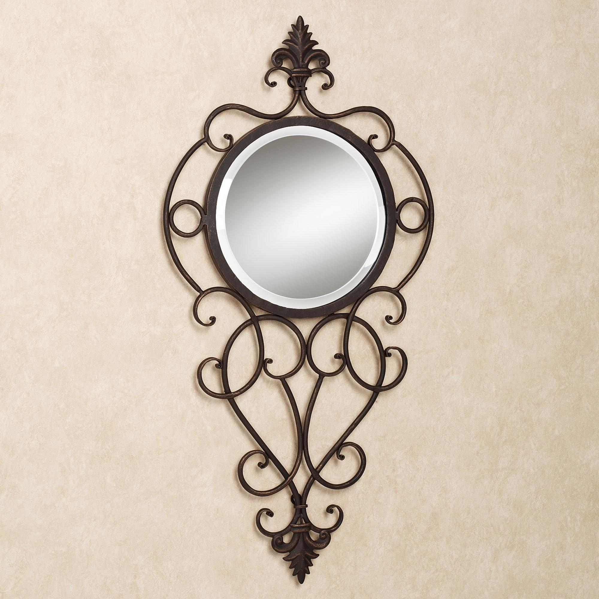 Black Wrought Iron Wall Decor — Home Decoration : Benefit Of Regarding Black Wrought Iron Mirrors (Image 6 of 20)