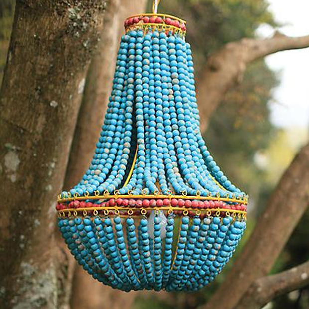 Blue Beaded Chandelier Day Day Pinterest Turquoise Throughout Turquoise Blue Beaded Chandeliers (Image 16 of 25)