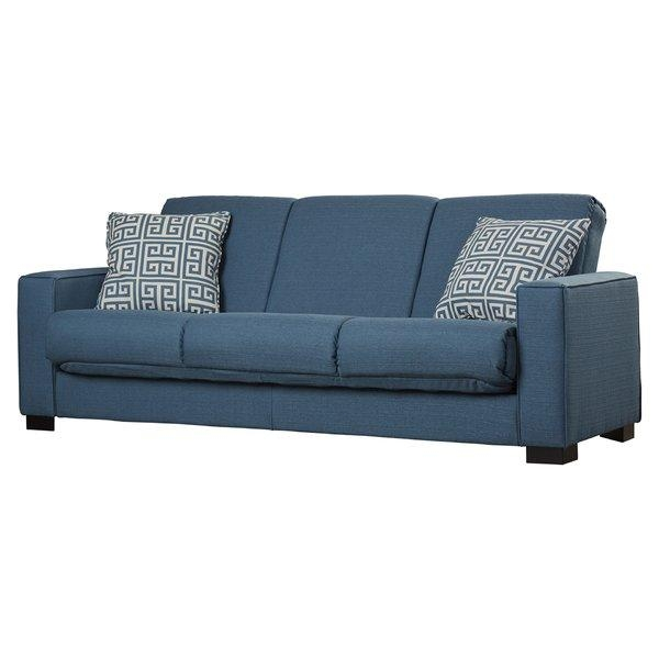 Blue Denim Sofa | Wayfair Throughout Denim Sofas And Loveseats (Image 9 of 20)