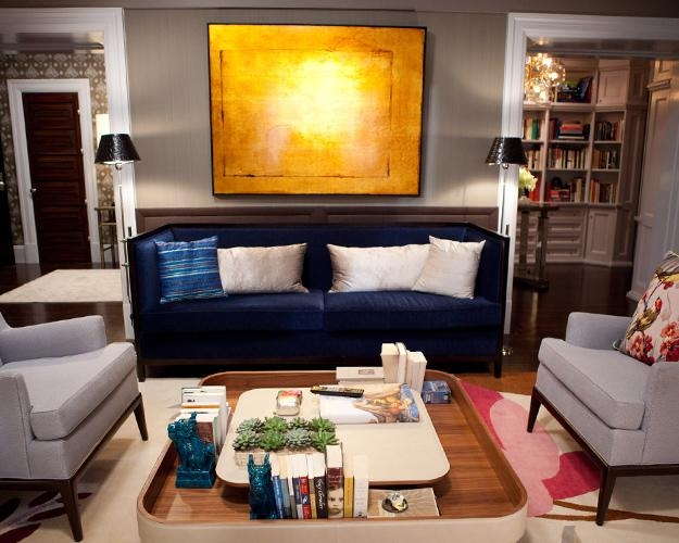Blue Sofa Design Ideas Intended For Midnight Blue Sofas (Image 11 of 20)
