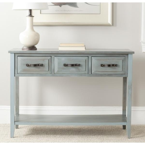 Blue Sofa Table Console Table Blue Comfortable Design Blue Console Within Blue Sofa Tabless (Image 14 of 20)