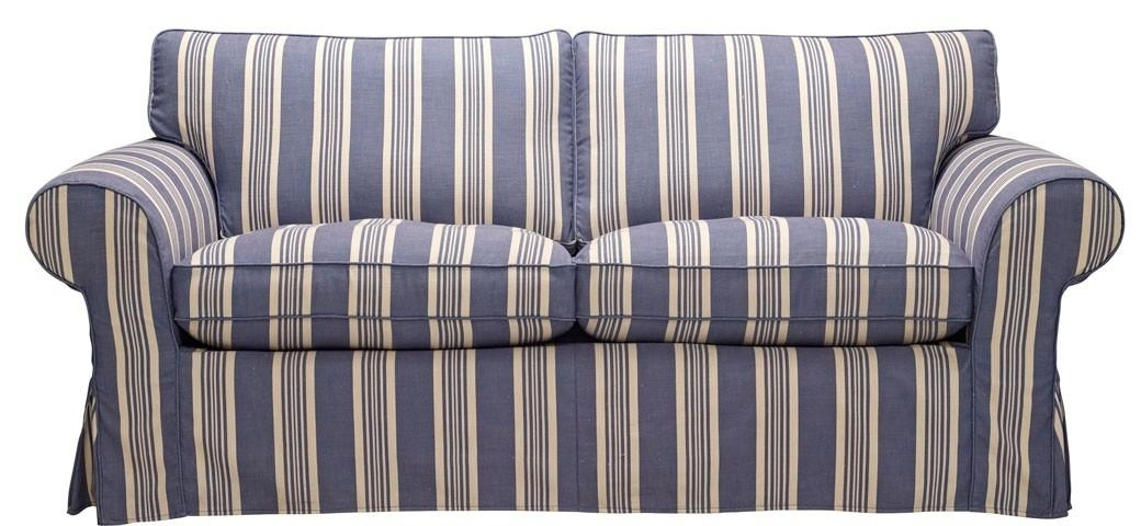 Blue Stripe Sofas | Russell Sofa In Bronte Stripe // Seaside Blues With Blue And White Striped Sofas (Image 12 of 20)