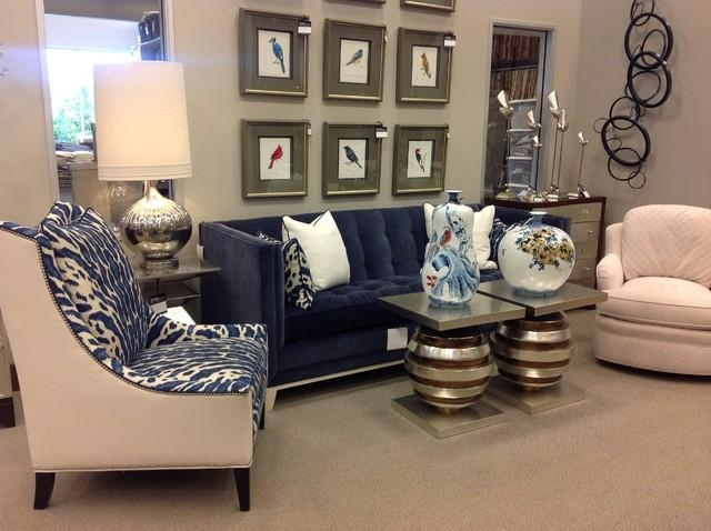 Blue Velvet Sofa & Animal Print Chairs With Regard To Animal Print Sofas (Image 11 of 20)