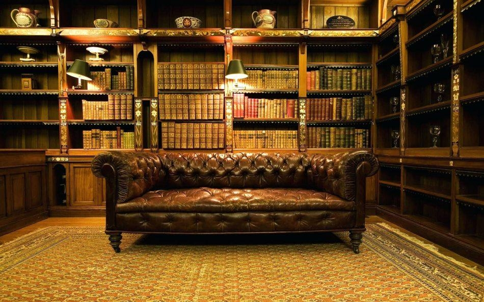 Bomber Jacket Leather Sofa Gorgeous Home Library Design Wide Brown Within Bomber Jacket Leather Sofas (View 19 of 20)