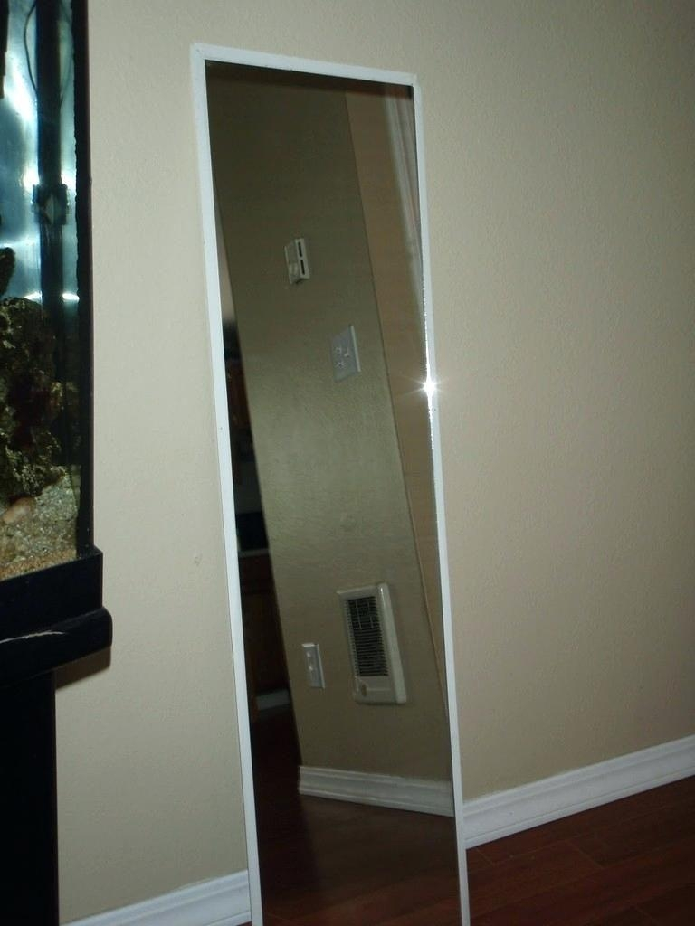 Bonett Bevel Edged Mirror Ikea Full Length Can Be Hung Regarding Beveled Full Length Mirror (Image 9 of 20)