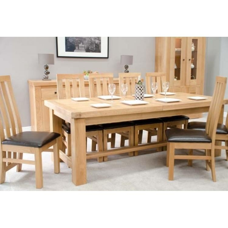 Bordeaux Solid Oak Grand Dining Table 14 Seater | Free Delivery In Bordeaux Dining Tables (Image 13 of 20)