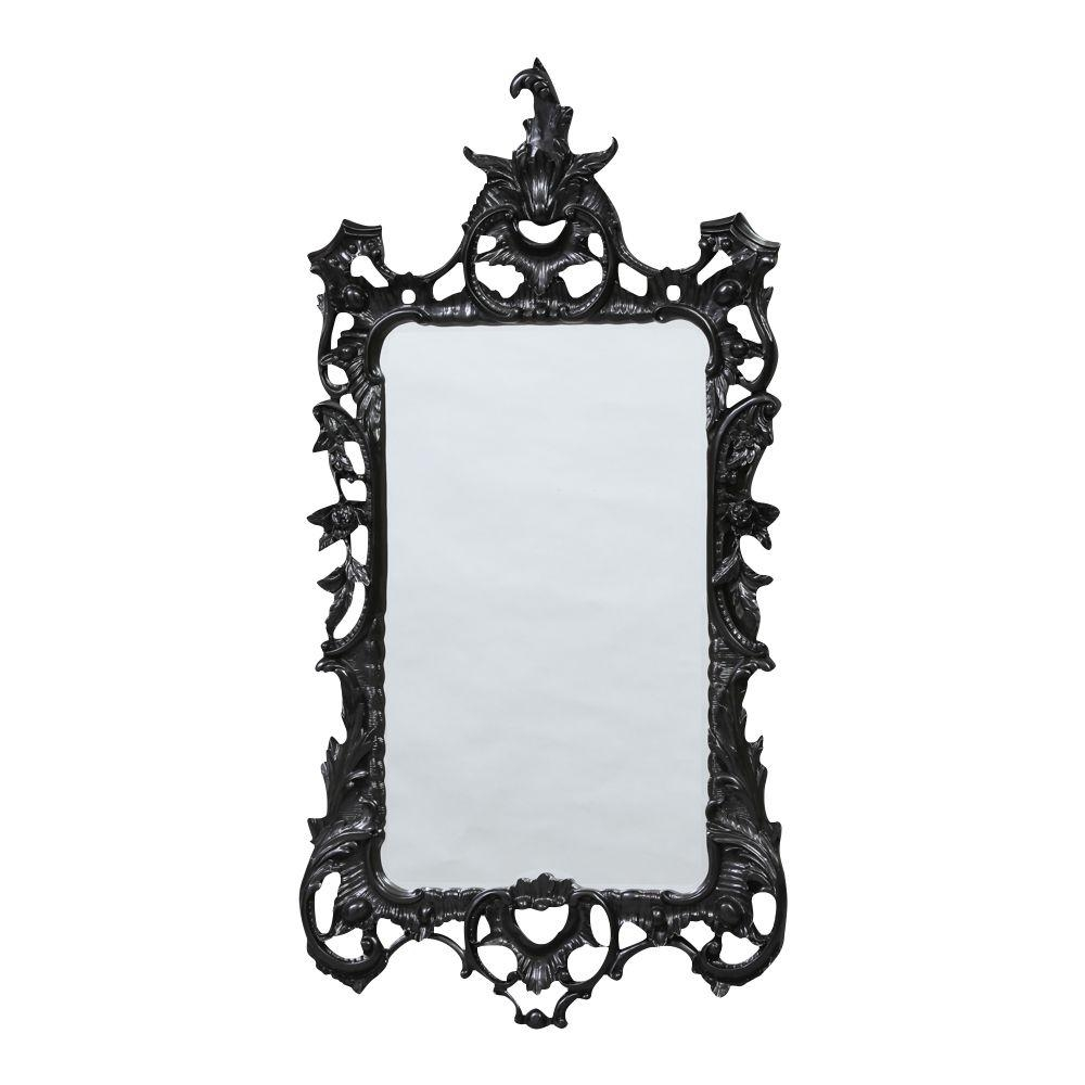 Boudoir Large French Black Mirror Regarding Large Black Mirror (Image 5 of 20)