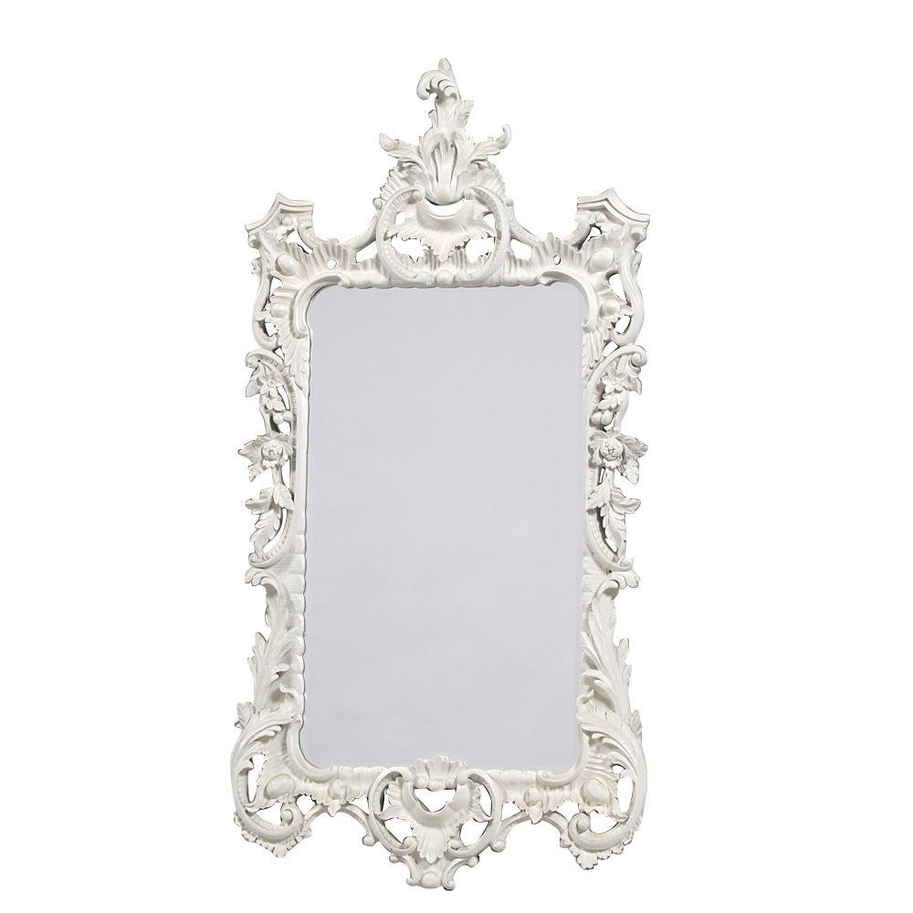 Boudoir Large French White Mirror With Large White French Mirror (Image 2 of 20)