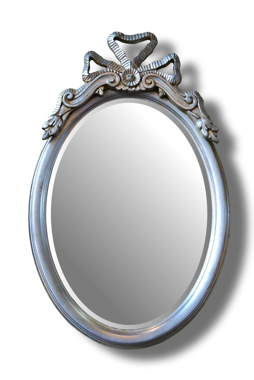 Bow Top Oval Mirror | Hall Mirrors For Sale – Panfili Mirrors In Oval Silver Mirror (Image 3 of 20)