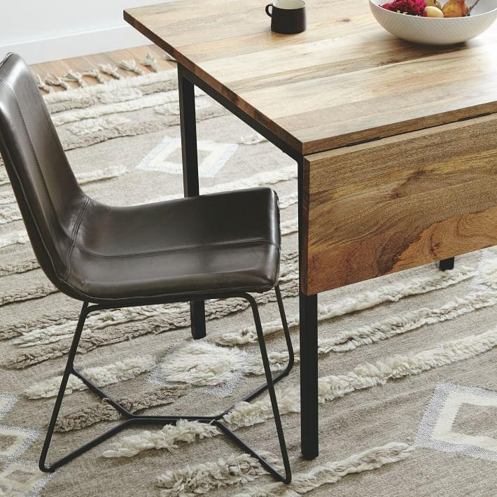 Box Frame Drop Leaf Expandable Table | West Elm With Drop Leaf Extendable Dining Tables (Image 8 of 20)