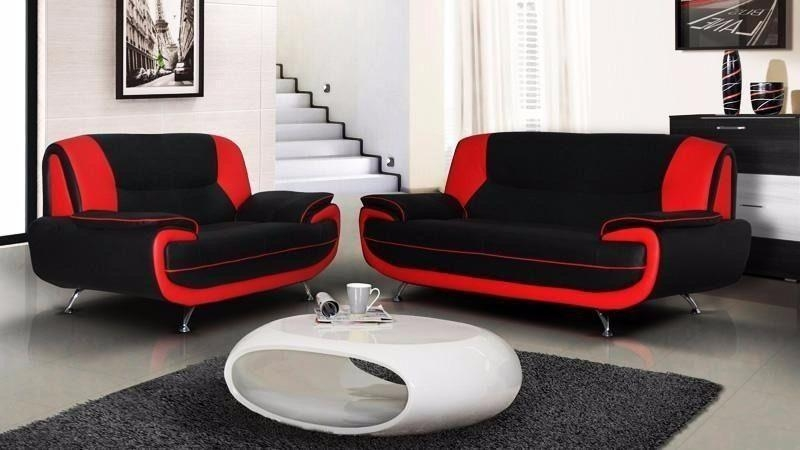 Brand New Furniture Sale**** Carol 3+2 Seater Leather Sofa*** In Regarding Black And Red Sofa Sets (Image 7 of 20)
