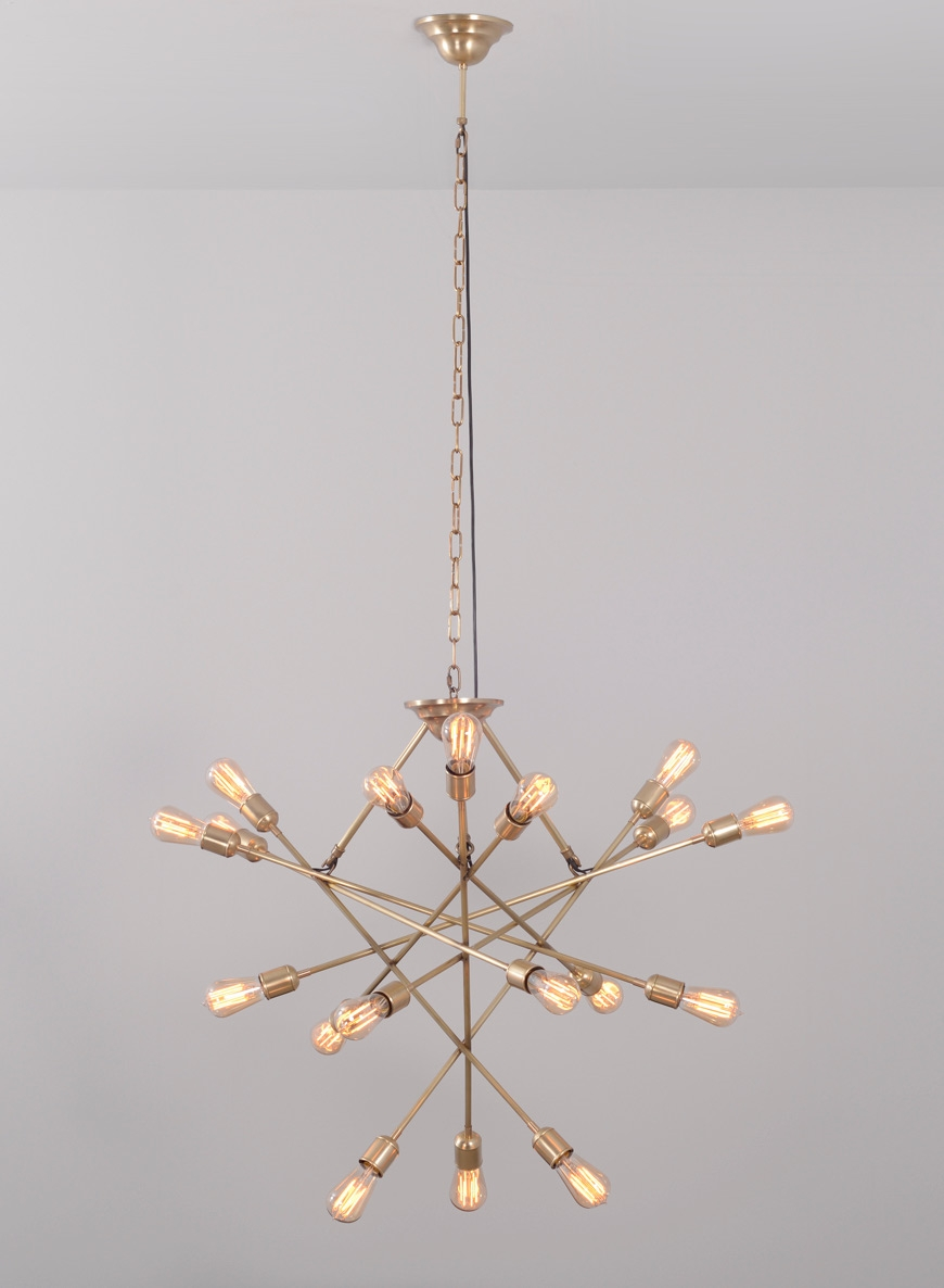 Brass Moov Chandelier Xl Casa Botelho Pertaining To Atom Chandeliers (Image 3 of 25)