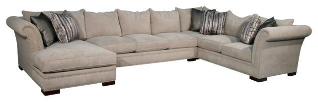 Braxton 3 Piece Sectional – Transitional – Sectional Sofas – For Braxton Sectional Sofas (Image 3 of 20)