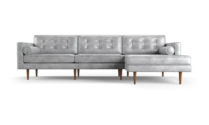 Braxton Leather Sectional | Joybird With Braxton Sectional Sofas (Image 8 of 20)