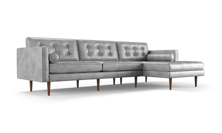 Braxton Leather Sectional | Joybird With Regard To Braxton Sectional Sofas (Image 9 of 20)