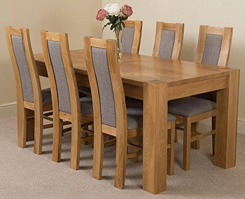 Breathtaking Chunky Solid Oak Dining Table And 6 Chairs 24 In Ikea For Chunky Solid Oak Dining Tables And 6 Chairs (View 2 of 20)