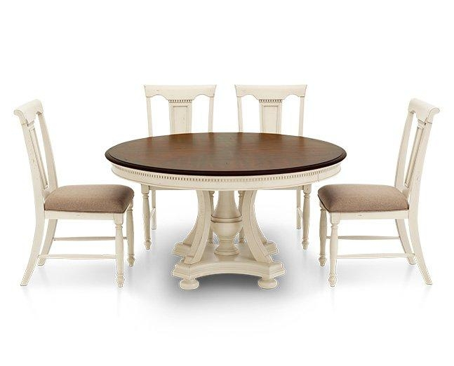 Bridgeport Round Dining Table – Furniture Row With Dining Table Sets With 6 Chairs (Image 6 of 20)
