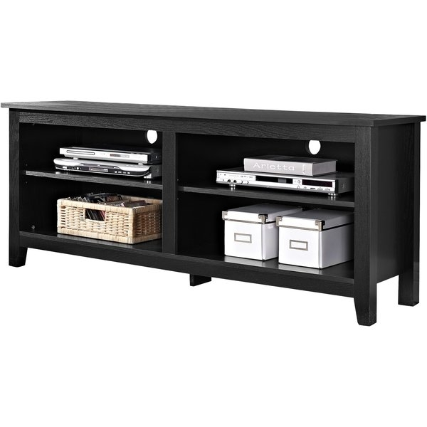 Brilliant Best Black Corner TV Cabinets With Glass Doors Within Fireplace Tv Stands Entertainment Centers Youll Love Wayfair (Image 7 of 50)