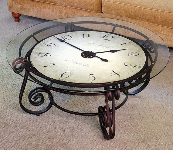 Brilliant Best Coffee Tables With Clock Top Regarding Clock Coffee Tables Beautiful Home Design (Image 9 of 40)