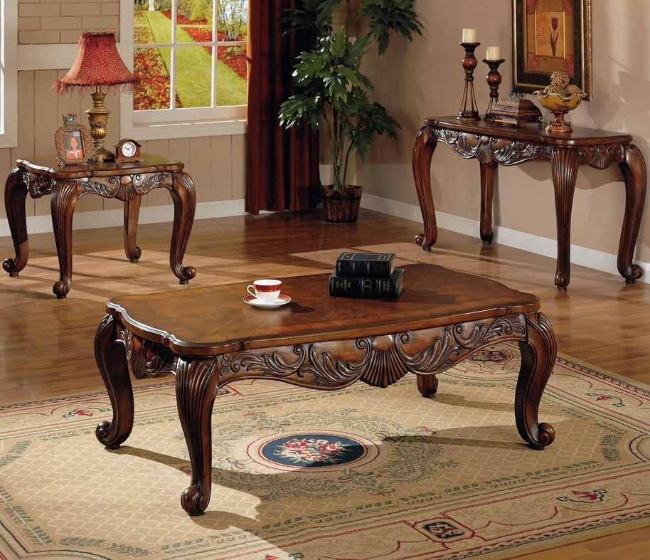 Brilliant Best Curve Coffee Tables For Coaster Victoria 700468 Brown Wood Coffee Table Steal A Sofa (Image 8 of 50)
