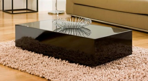 Brilliant Best Dark Glass Coffee Tables Throughout This Is 20 Creative Black Coffee Tables Made Of Wood And Glass (Image 13 of 50)