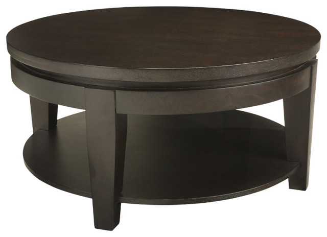 Brilliant Best Espresso Coffee Tables With Regard To Asia Round Coffee Table Coffee Tables Inmod (Image 5 of 50)