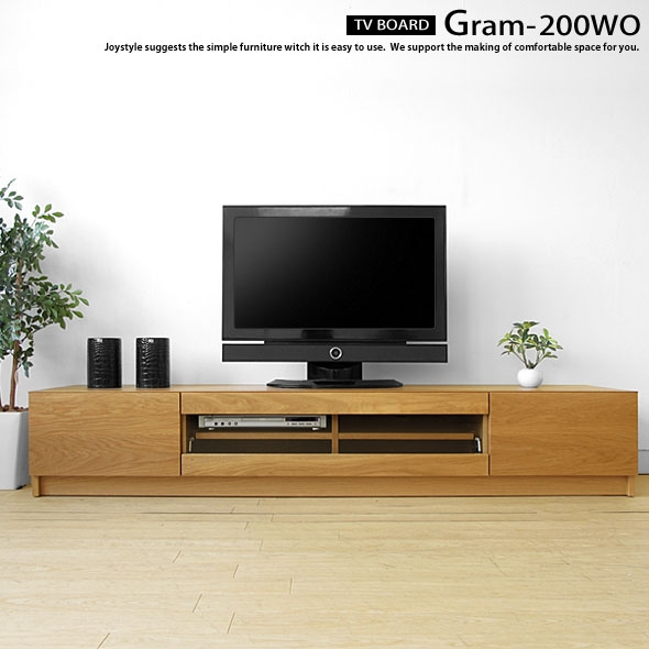 Brilliant Best Glass And Oak TV Stands Intended For Joystyle Interior Rakuten Global Market Tv Board Gram 200wo (Image 4 of 50)