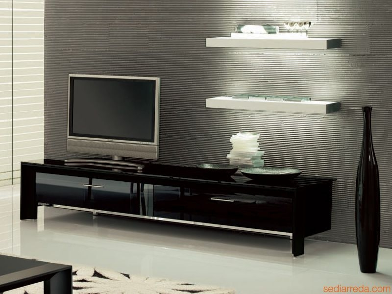 Brilliant Best Glass Front TV Stands Intended For Miami 6205 Tonin Casa Tv Stand Made Of Aluminium And Glass With (Image 9 of 50)