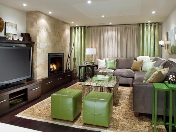 Brilliant Best Green Ottoman Coffee Tables With Regard To Deco Ideas For Chic Basements (Image 12 of 50)