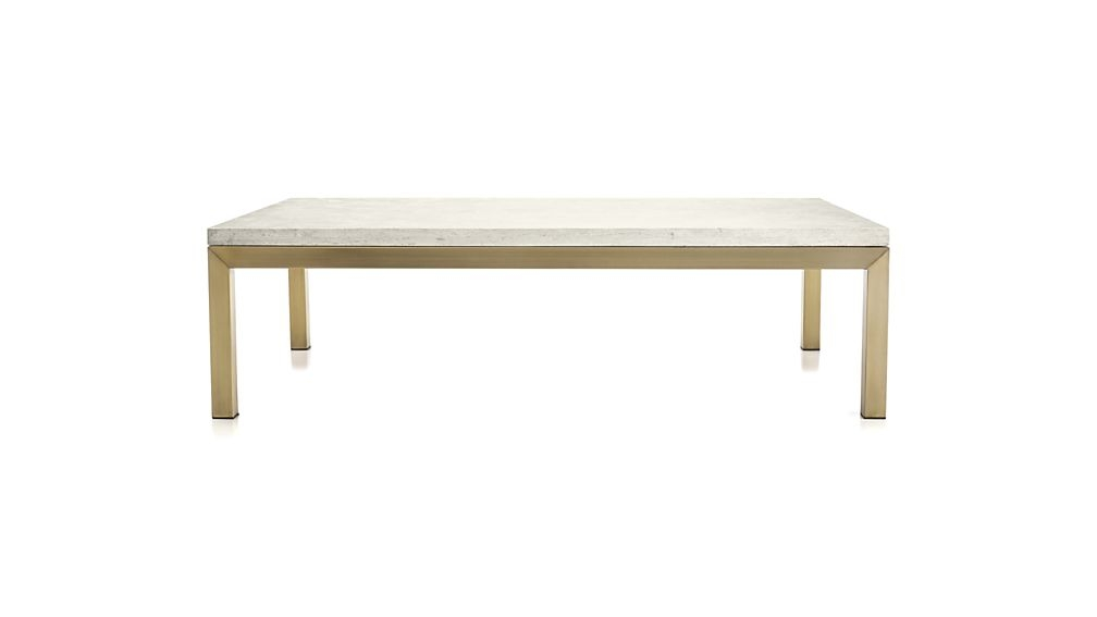 Brilliant Best Large Rectangular Coffee Tables With Regard To Parsons Travertine Top Brass Base 60×36 Large Rectangular Coffee (Image 8 of 40)