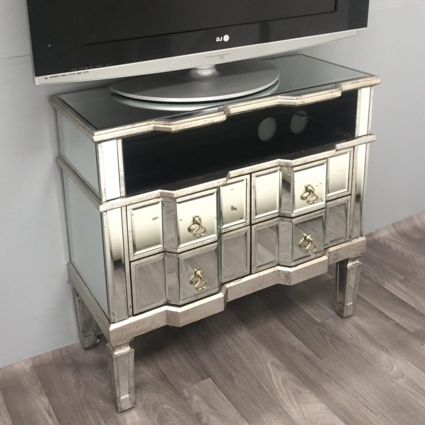 Brilliant Best Mirrored TV Stands For Mirrored Tv Cabinet Living Room Furniture Harpsoundsco (View 47 of 50)