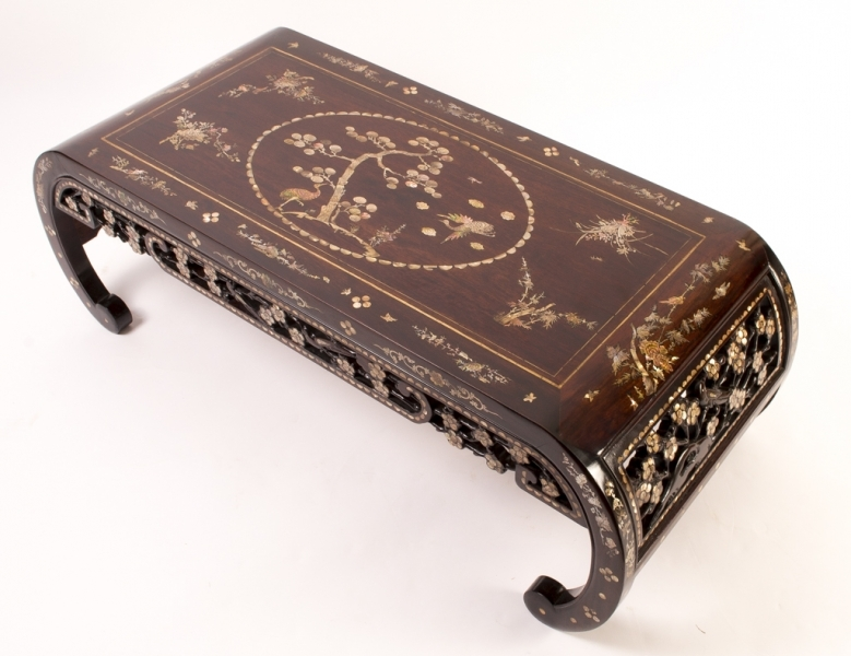 Brilliant Best Mother Of Pearl Coffee Tables Within Chinese Rosewood Mother Of Pearl Opium Coffee Table (View 26 of 50)