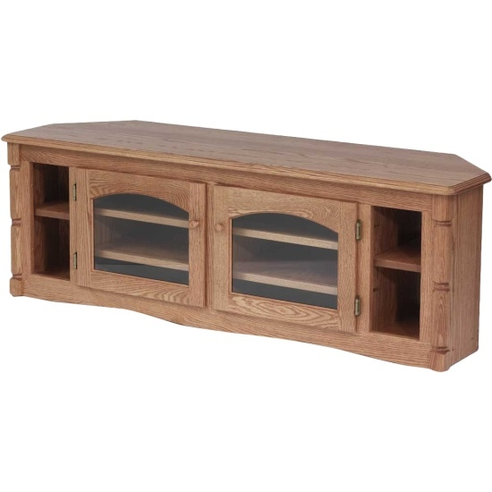 Brilliant Best Oak Corner TV Stands Throughout Solid Oak Country Style Corner Tv Stand 60 The Oak Furniture Shop (Image 10 of 50)