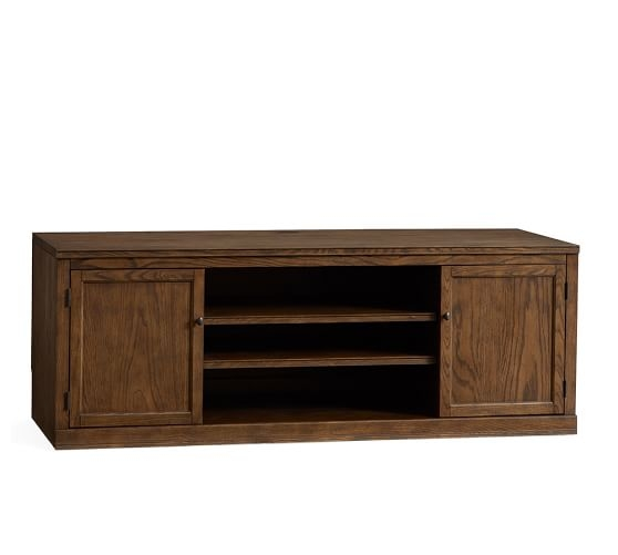 Brilliant Best Oak TV Stands In Logan Large Tv Stand Hewn Oak Pottery Barn (Image 8 of 50)