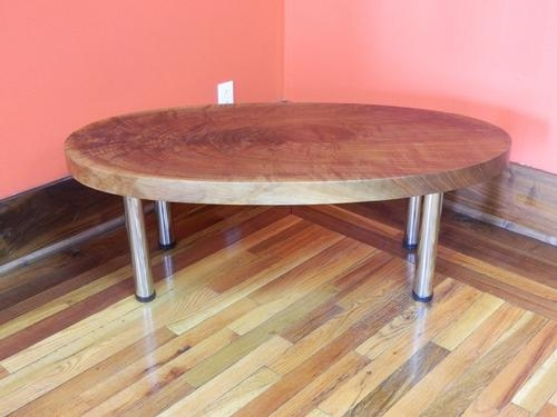 Brilliant Best Oval Walnut Coffee Tables In Coffee Tables Figured Black Walnut Lumber Live Edge Furniture (Image 7 of 50)