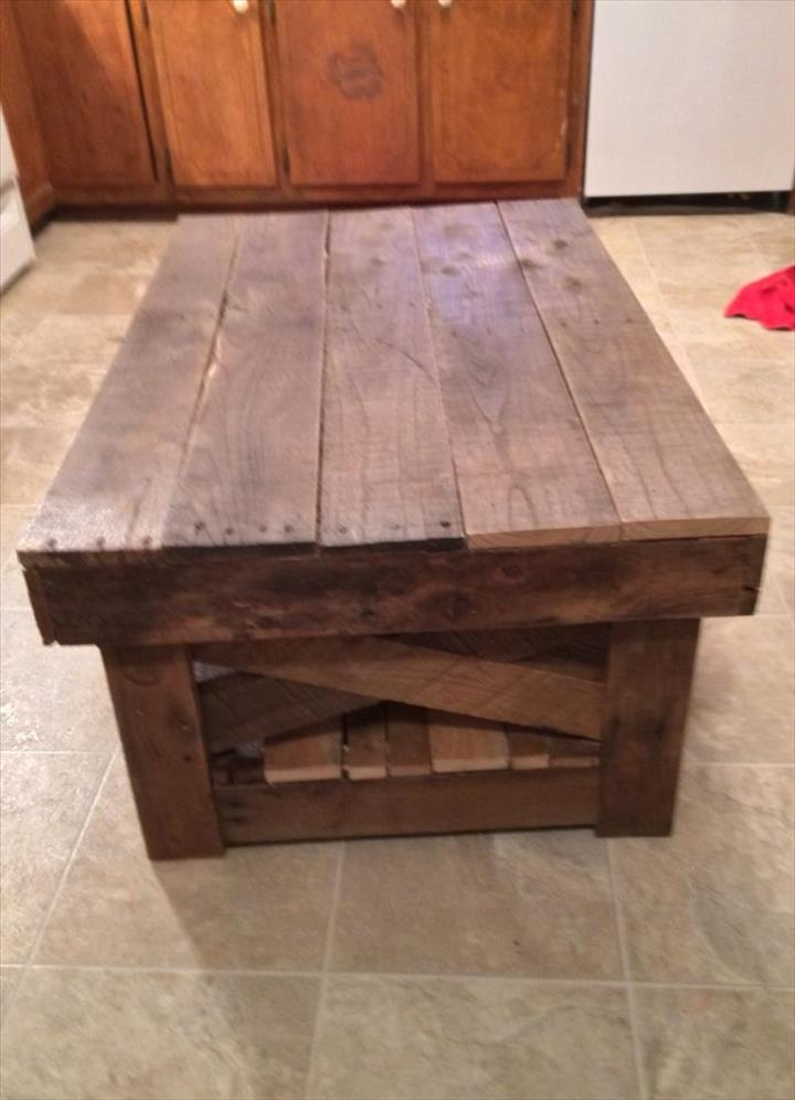 Brilliant Best Rustic Storage DIY Coffee Tables With Regard To Diy Rustic Coffee Table (Image 9 of 50)