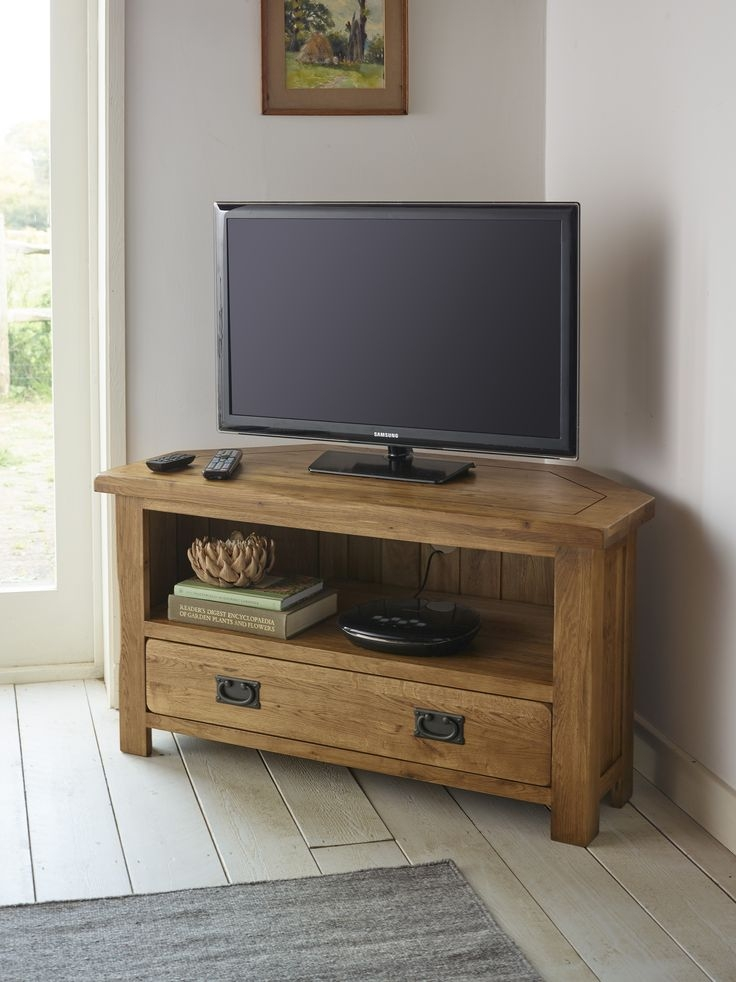 Brilliant Best Solid Oak Corner TV Cabinets With Regard To 25 Best Oak Corner Tv Unit Ideas On Pinterest Oak Corner Tv (Image 8 of 50)