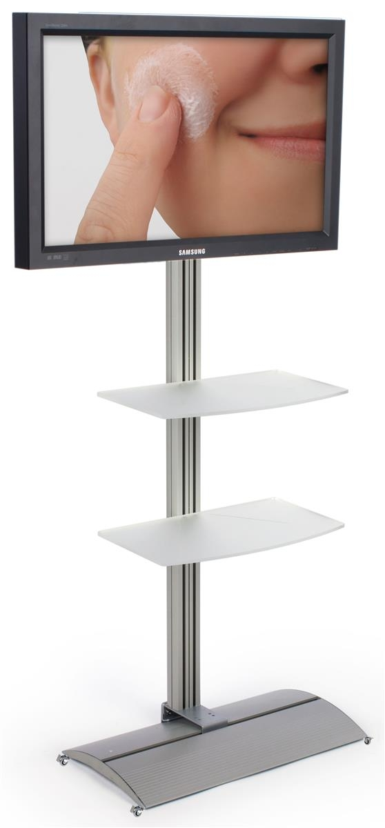 Brilliant Brand New Acrylic TV Stands With These Plasma Tv Stands With 2 Shelves And Tiliting Capability (View 49 of 50)