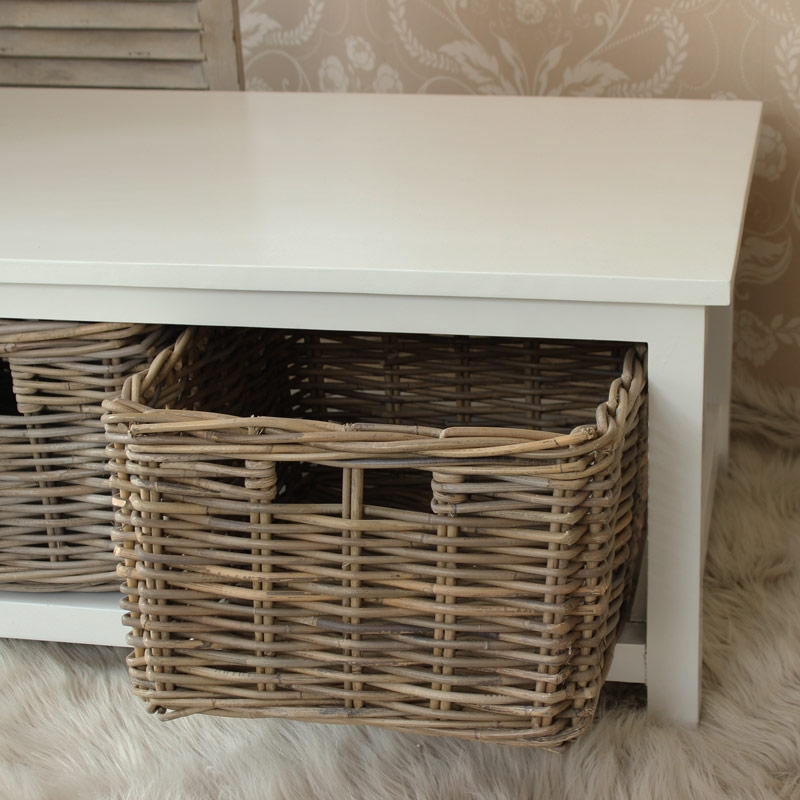 Brilliant Brand New Coffee Table With Wicker Basket Storage For White Coffee Table With Storage Coffee Tables Design Ideas (Image 8 of 40)