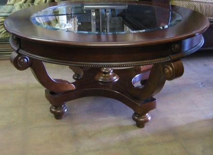 Brilliant Brand New Dark Wood Round Coffee Tables Throughout Round Dark Wood Coffee Table Jerichomafjarproject (Image 13 of 50)