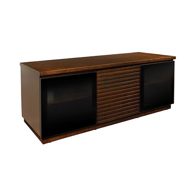 Brilliant Brand New Espresso TV Cabinets Intended For Bello Contemporary Wood Home Entertainment Cabinet With Louvered (Image 9 of 50)