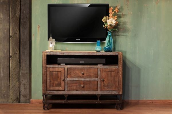 Brilliant Brand New Gold TV Stands Pertaining To Ifd560stand 76 Urban Gold 76 Inch Tv Stand Artisan Home Afw (Image 11 of 50)