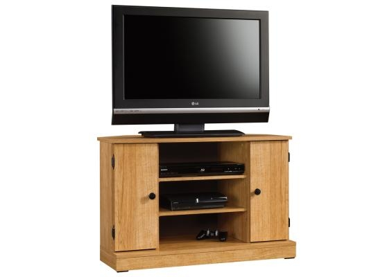 Brilliant Brand New Oak Corner TV Stands With Regard To Sauder Beginnings Highland Oak Corner Tv Stand  (Image 12 of 50)