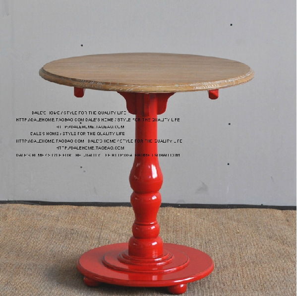 Brilliant Brand New Red Round Coffee Tables Inside Country Style Wood Furniture Leisure Furniture Small Red Round (View 33 of 50)