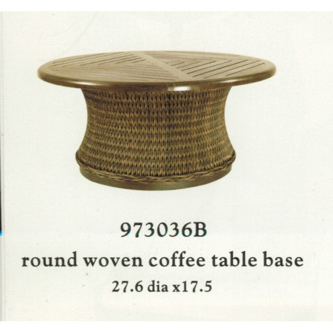 Brilliant Brand New Round Woven Coffee Tables With Patio Renaissance Monticello Collection Round Woven Coffee Table (Image 13 of 50)