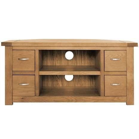 Brilliant Brand New Solid Oak Corner TV Cabinets Regarding 22 Best Corner Tv Cabinets Images On Pinterest Corner Tv (View 18 of 50)